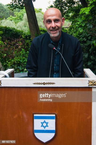 Gal Weinstein attends at the opening of the Israel pavilion, presenting the project 'Sun Stand Still' of Gal Weinstein at the 57th Biennale Arte on...