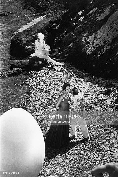 Gala and Salvador Dali in Port Lligat Spain in 1966 Near Cadaques Gala and Salvador Dali