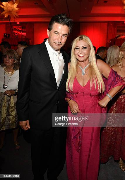 Gala Auctioneer and actor William Baldwin and Cofounder of AMBI Pictures Monika Bacardi attend the 2016 Toronto International Film Festival 'AMBI...