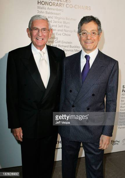 Gala Chair Eli Broad and MOCA Director Jeffrey Deitch attend 2011 MOCA Gala An Artist's Life Manifesto Directed by Marina Abramovic at MOCA Grand...