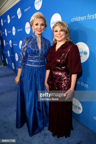 Gala Chair Julie C Opperman and UNICEF USA Board of Directors Event Chair Ghada Irani attend the Seventh Biennial UNICEF Ball Los Angeles on April 14...