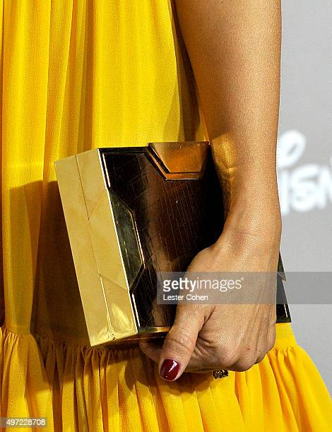 Gala chair member Jessica Alba clutch detail attends the 2015 Baby2Baby Gala at 3LABS on November 14 2015 in Culver City California