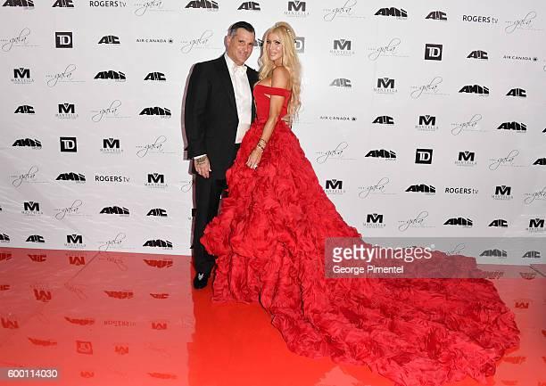 Gala Chair Sylvia Mantella and husband Robert Mantella attends the 2016 Toronto International Film Festival 'AMBI Gala' at Ritz Carlton on September...