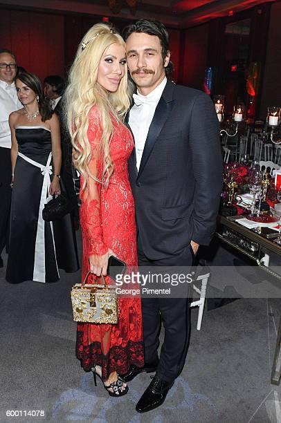 Gala Chair Sylvia Mantella and James Franco attend the 2016 Toronto International Film Festival 'AMBI Gala' at Ritz Carlton on September 7 2016 in...