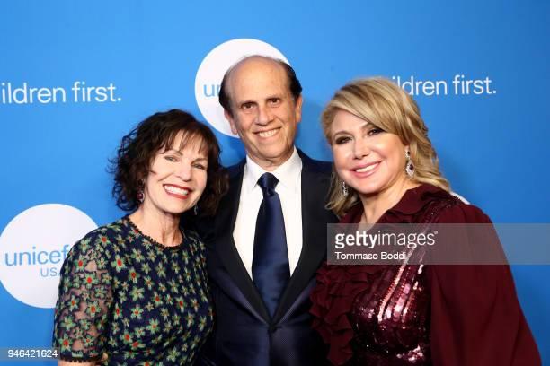 UNICEF Gala Chairs Lori Milken Michael Milken and UNICEF USA Board of Directors Event Chair Ghada Irani attend the Seventh Biennial UNICEF Ball Los...