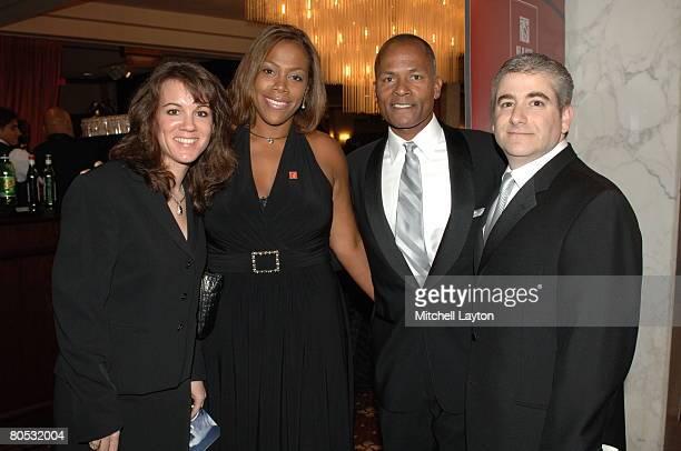 NFL PLAYERS Gala cochair Courtney Bromley VP of Corporate Partnerships Allison Tucker Executive Director Steve Hocker and cochair Paul Schulman pose...