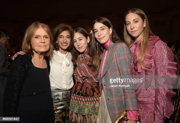Gala CoChair Gloria Steinem Global Executive Director Equality Now Yasmeen Hassan Alana Haim Danielle Haim and Este Haim of Haim attend as Equality...