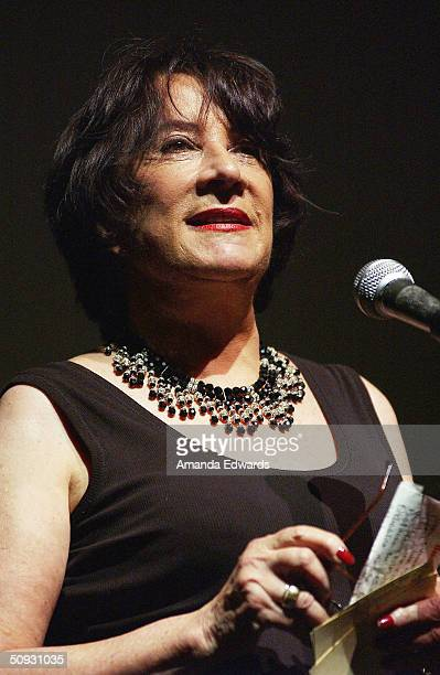 Gala CoChair Hanna Kennedy gives a speech at the 15th Anniversary of the Los Angeles Chamber Orchestra's Silent Film Festival on June 5 2004 at...