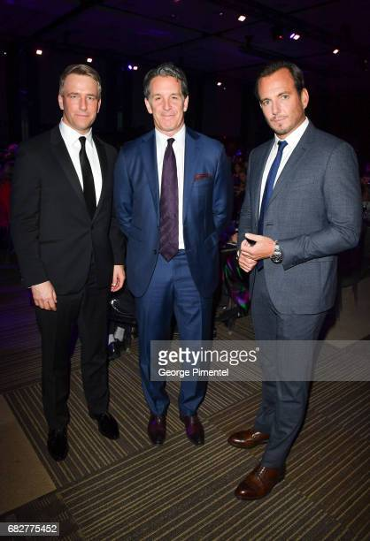Gala CoChair Michael Burns Toronto Maple Leaf President Brendan Shanahan and Actor/ Comedian Will Arnett attend Laughter Is The Best Medicine III...