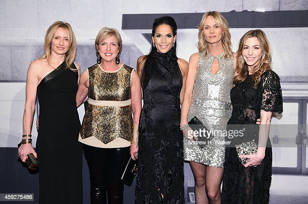 Gala CoChairs AnneCecilie Speyer Fern Tessler Crystal McCary Lise Evans and Jill Bikoff attend the 2014 Whitney Gala presented by Louis Vuitton at...