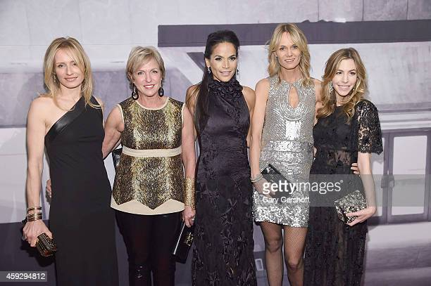 Gala CoChairs AnneCecilie Speyer Fern Tessler Crystal McCary Lise Evans and Jill Bikoff attend the Whitney Museum of American Art's 2014 Gala Studio...