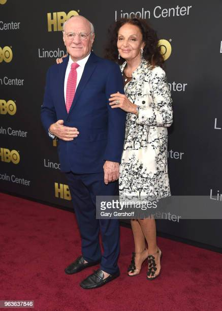 Gala CoChairs Barry Diller and Diane von Furstenberg attend the 2018 Lincoln Center American Songbook gala honoring HBO's Richard Plepler at Alice...
