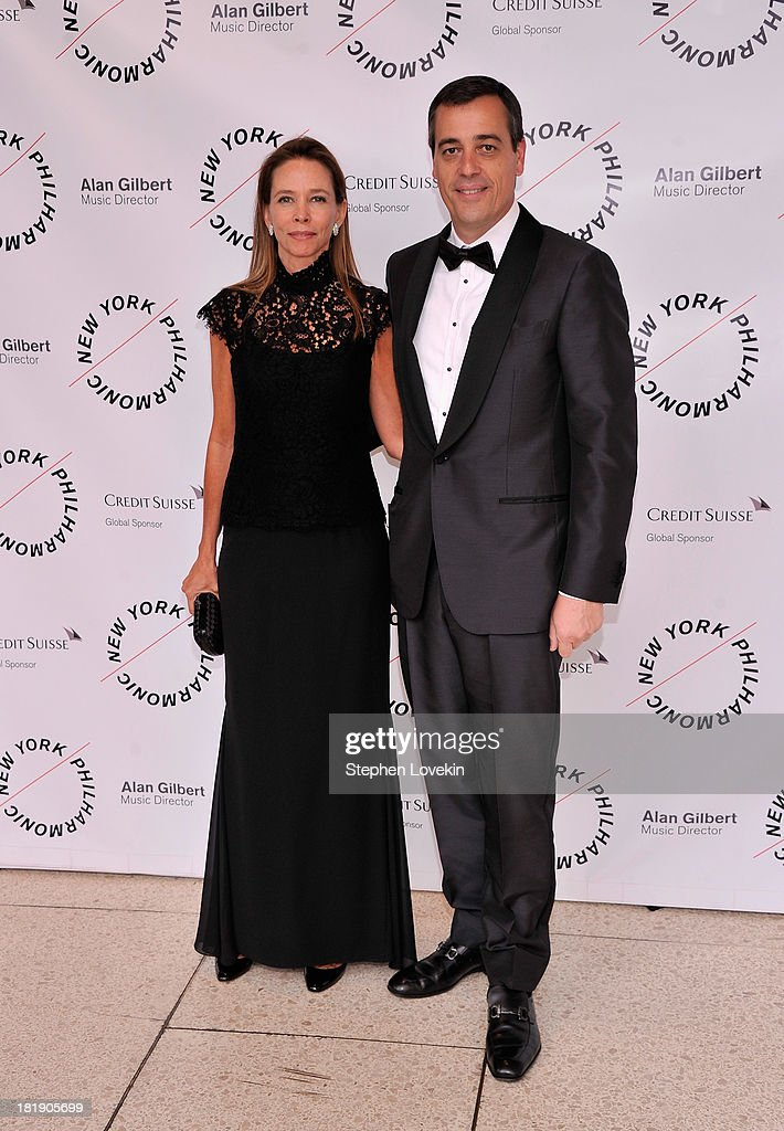 Gala Co-Chairs Gabriella Quintella and Antonio Quintella attend The New York Philharmonic 172nd Season Opening Night Gala at Avery Fisher Hall, Lincoln Center on September 25, 2013 in New York City.