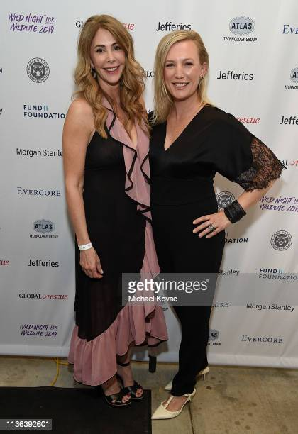 Gala CoChairs Kelly Green and Julie Jumonville attend Global Wildlife Conservation's Wild Night For Wildlife annual gala hosted by Brian and Adria...