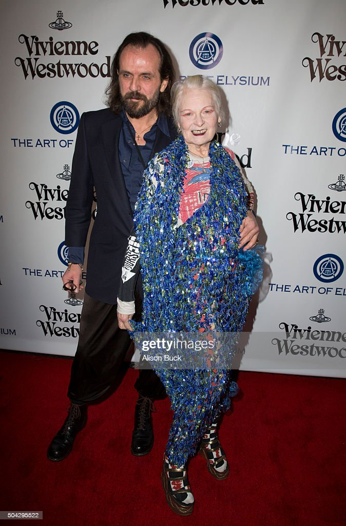 Gala Creative Visionary Vivienne Westwood (R) attends The Art of Elysium 2016 HEAVEN Gala presented by Vivienne Westwood & Andreas Kronthaler at 3LABS on January 9, 2016 in Culver City, California