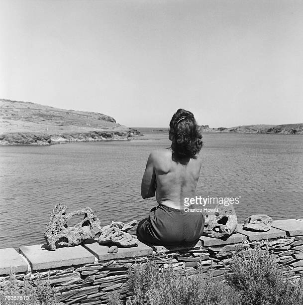 Gala Dali the wife of Spanish surrealist artist Salvador Dali at her home in Cadaques on the Costa Brava Spain 8th January 1955 Original Publication...
