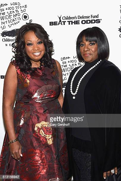 Gala emcee Star Jones and honoree actress LaTanya Richardson Jackson attend the 2016 Children's Defense FundNew York Beat The Odds Gala at The Pierre...