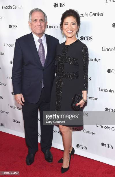 Gala event honoree Leslie Moonves and wife Julie Chen attend the 2017 American Songbook gala at Alice Tully Hall Lincoln Center on February 1 2017 in...