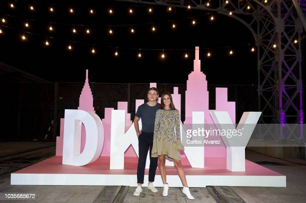 Gala Gonzalez and John Steiner attend 'Donna Karan Stories' new Fragrance party at Museo del Ferrocarril on September 18 2018 in Madrid Spain