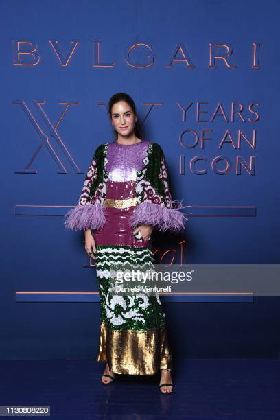 Gala Gonzalez attends the Bvlgari BZERO1 XX Anniversary Global Launch Event at Auditorium Parco Della Musica on February 19 2019 in Rome Italy
