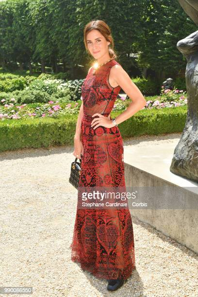 Gala Gonzalez attends the Christian Dior Haute Couture Fall/Winter 20182019 show as part of Haute Couture Paris Fashion Week on July 2 2018 in Paris...