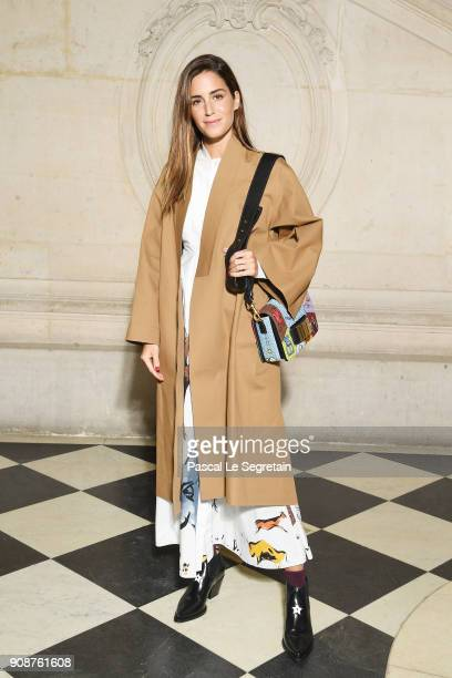 Gala Gonzalez attends the Christian Dior Haute Couture Spring Summer 2018 show as part of Paris Fashion Week on January 22 2018 in Paris France
