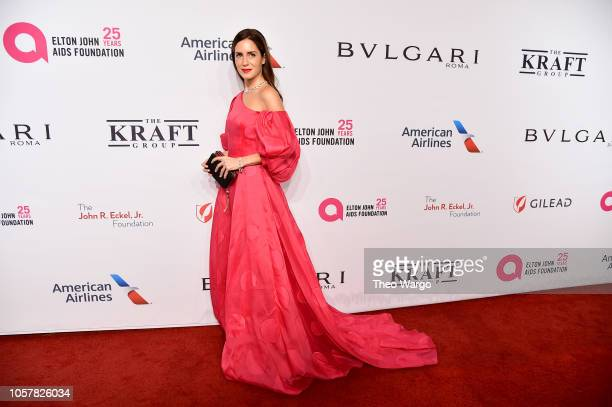 Gala Gonzalez attends the Elton John AIDS Foundation's 17th Annual An Enduring Vision Benefit at Cipriani 42nd Street on November 5 2018 in New York...