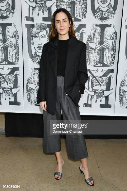 Gala Gonzalez attends the Miu Miu show as part of the Paris Fashion Week Womenswear Fall/Winter 2018/2019 on March 6 2018 in Paris France