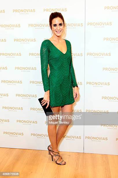 Gala Gonzalez attends the 'Pronovias' flagship store opening on October 8 2014 in Barcelona Spain