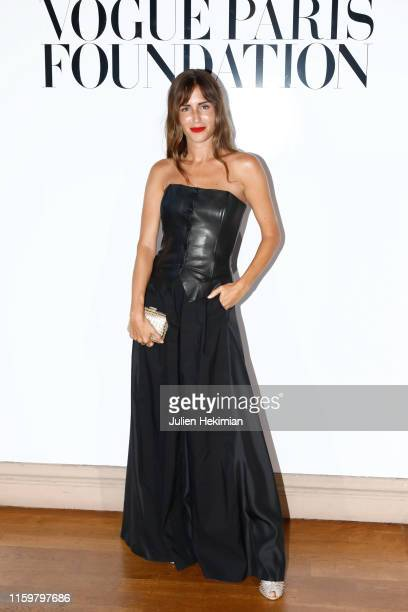 Gala Gonzalez attends the Vogue diner as part of Paris Fashion Week Haute Couture Fall Winter 2020 at Le Trianon on July 02 2019 in Paris France