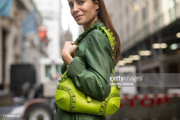 Gala Gonzalez is seen on the street during New York Fashion Week AW19 wearing Michael Kors on February 13 2019 in New York City