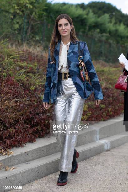 Gala Gonzalez is seen on the street during Paris Fashion Week SS19 wearing Dior on September 24 2018 in Paris France