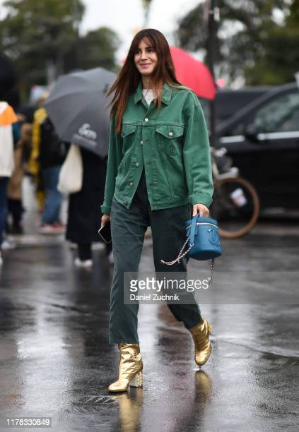 Gala Gonzalez is seen wearing Chanel outside the Chanel show during Paris Fashion Week SS20 on October 1 2019 in Paris France