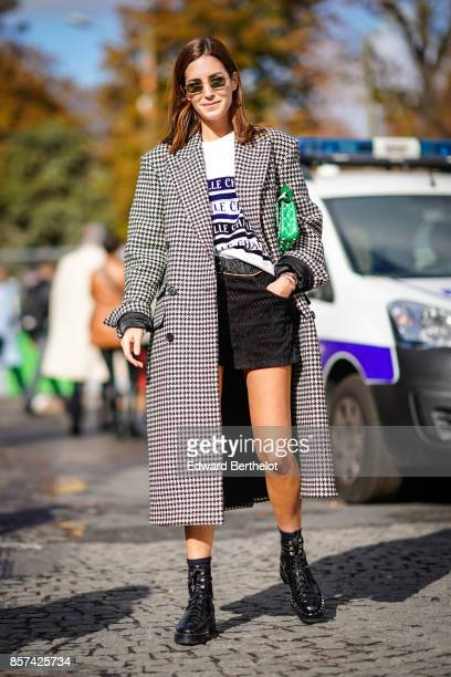 Gala Gonzalez outside Chanel during Paris Fashion Week Womenswear Spring/Summer 2018 on October 3 2017 in Paris France