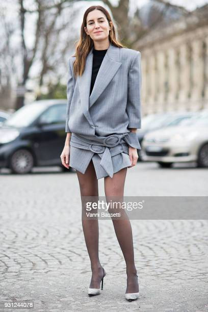 Gala Gonzalez poses after the Chanel Show at the Grand Palais during Paris Fashion Week Womenswear FW 18/19 on March 6 2018 in Paris France