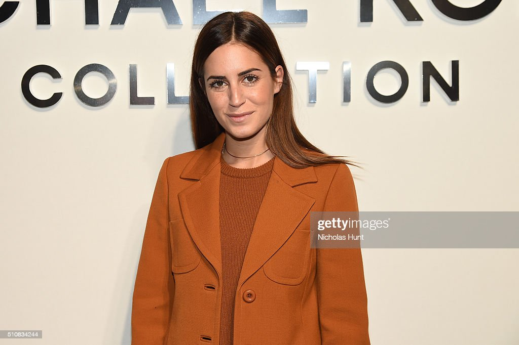 Gala Gonzalez poses backstage at the Michael Kors Fall 2016 Runway Show during New York Fashion Week: The Shows at Spring Studios on February 17, 2016 in New York City.