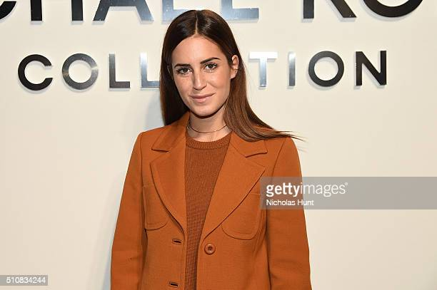 Gala Gonzalez poses backstage at the Michael Kors Fall 2016 Runway Show during New York Fashion Week The Shows at Spring Studios on February 17 2016...