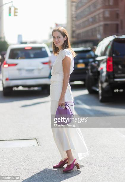 Gala Gonzalez seen in the streets of Manhattan outside Phillip Lim during New York Fashion Week on September 11 2017 in New York City
