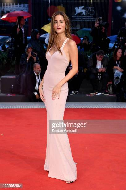 Gala Gonzalez walks the red carpet ahead of the 'A Star Is Born' screening during the 75th Venice Film Festival at Sala Grande on August 31 2018 in...