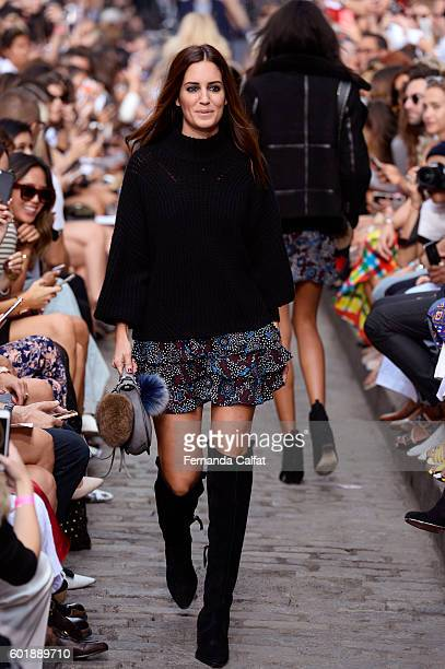 Gala Gonzalez walks the runway at Rebecca Minkoff fashion show during New York Fashion Week The Shows September 2016 at Magnum New York on September...
