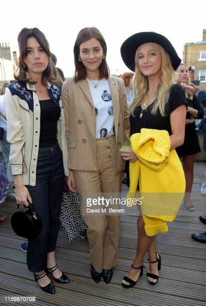 Gala Gordon Amber Anderson and Lily Travers attend the Missoma Summer Party at the Residence of the Embassy of Colombia on July 03 2019 in London...