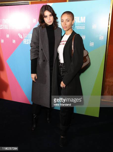 Gala Gordon and Adwoa Aboah attend attend attends the Rare Beasts UK Premiere during the 63rd BFI London Film Festival at The Curzon Mayfair on...