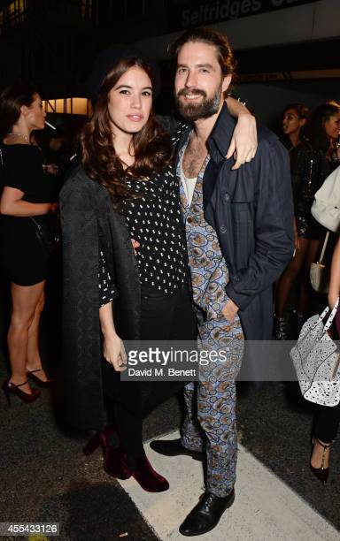 Gala Gordon and Jack Guinness attend the party to celebrate the World of Rick Owens at Selfridges during London Fashion Week at Selfridges on...