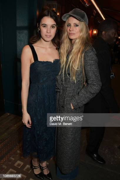 Gala Gordon and Laura Bailey attend the Platform Presents Poetry Gala 2019 after party at J Sheekey Atlantic Bar on January 20 2019 in London England