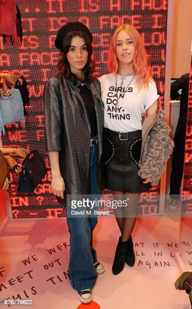 Gala Gordon and Mary Charteris attend the Maje PopUp store launch with Women for Women International on November 20 2017 in London England