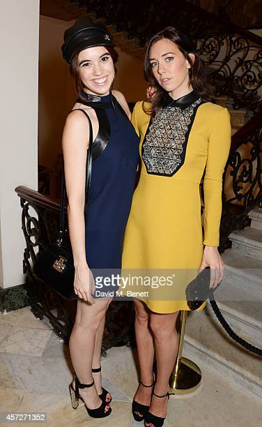 Gala Gordon and Vanessa Kirby attend private reception hosted by Gucci Frieze Masters in honour of the speakers at Frieze Masters Talks 2014 at...