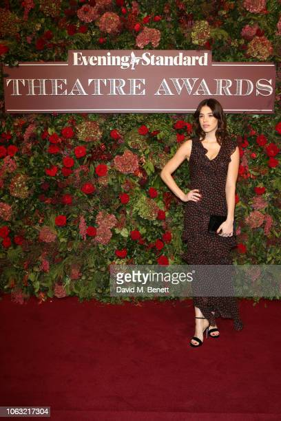 Gala Gordon arrives at The 64th Evening Standard Theatre Awards at the Theatre Royal Drury Lane on November 18 2018 in London England