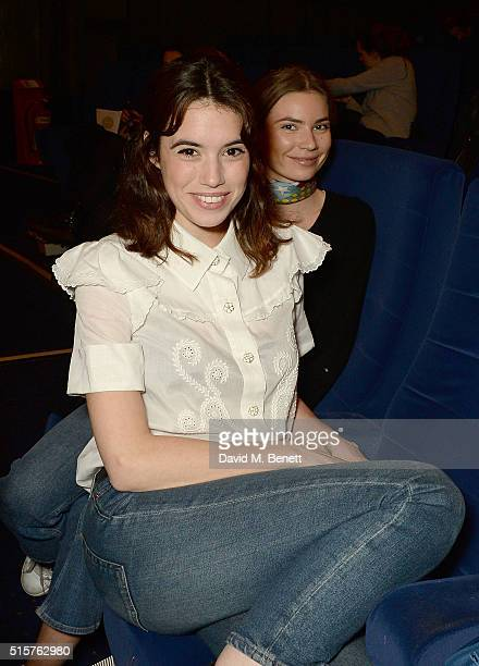 Gala Gordon attends as Farfetch host a screening of 'First Monday In May' at the Curzon Mayfair on March 15 2016 in London England