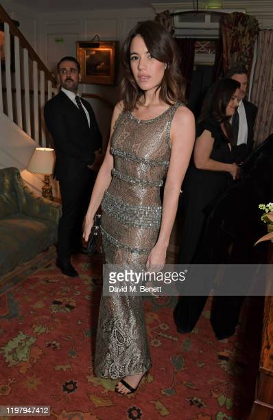 Gala Gordon attends the Charles Finch CHANEL PreBAFTA Party at 5 Hertford Street on February 1 2020 in London England