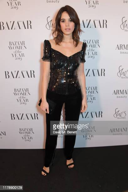 Gala Gordon attends the Harper's Bazaar Women of the Year Awards 2019 in partnership with Armani Beauty at Claridge's Hotel on October 29 2019 in...